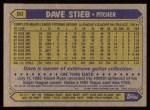 1987 Topps #90  Dave Stieb  Back Thumbnail