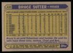 1987 Topps #435  Bruce Sutter  Back Thumbnail
