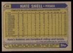 1987 Topps #86  Nate Snell  Back Thumbnail
