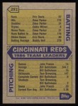 1987 Topps #281   -  Pete Rose Reds Leaders  /  Pete Rose Back Thumbnail