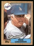 1987 Topps #493  Tommy Lasorda  Front Thumbnail