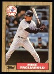 1987 Topps #195  Mike Pagliarulo  Front Thumbnail