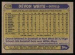 1987 Topps #139  Devon White  Back Thumbnail