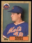 1987 Topps #213  Randy Myers  Front Thumbnail
