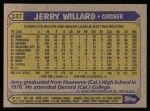 1987 Topps #137  Jerry Willard  Back Thumbnail