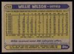 1987 Topps #783  Willie Wilson  Back Thumbnail