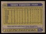 1987 Topps #652  Terry Forster  Back Thumbnail