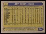 1987 Topps #9  Jay Tibbs  Back Thumbnail