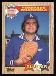 1987 Topps #604   -  Fernando Valenzuela All-Star Front Thumbnail