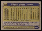 1987 Topps #698  Ernie Whitt  Back Thumbnail