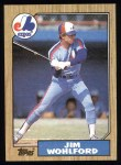 1987 Topps #527  Jim Wohlford  Front Thumbnail
