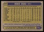 1987 Topps #469  Mike Diaz  Back Thumbnail