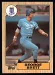 1987 Topps #400  George Brett  Front Thumbnail