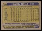 1987 Topps #732  Manny Trillo  Back Thumbnail
