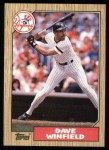 1987 Topps #770  Dave Winfield  Front Thumbnail