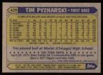 1987 Topps #429  Tim Pyznarski  Back Thumbnail