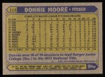 1987 Topps #115  Donnie Moore  Back Thumbnail