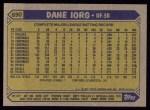 1987 Topps #690  Dane Iorg  Back Thumbnail