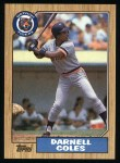 1987 Topps #411  Darnell Coles  Front Thumbnail
