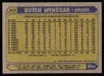 1987 Topps #464  Butch Wynegar  Back Thumbnail
