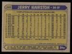 1987 Topps #685  Jerry Hairston  Back Thumbnail