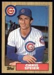 1987 Topps #424  Chris Speier  Front Thumbnail