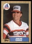 1987 Topps #790  Julio Cruz  Front Thumbnail