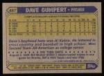 1987 Topps #487  Dave Gumpert  Back Thumbnail