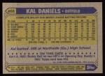 1987 Topps #466  Kal Daniels  Back Thumbnail