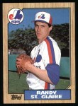 1987 Topps #467  Randy St.Claire  Front Thumbnail