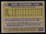 1987 Topps #187  Mark Huismann  Back Thumbnail