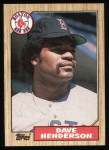 1987 Topps #452  Dave Henderson  Front Thumbnail