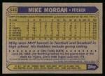 1987 Topps #546  Mike Morgan  Back Thumbnail