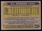 1987 Topps #109  R.J. Reynolds  Back Thumbnail