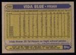 1987 Topps #260  Vida Blue  Back Thumbnail