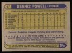 1987 Topps #47  Dennis Powell  Back Thumbnail