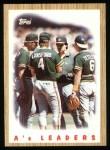1987 Topps #456   Athletics Team Front Thumbnail