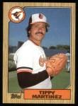 1987 Topps #728  Tippy Martinez  Front Thumbnail