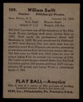 1939 Play Ball #129  Bob Swift  Back Thumbnail