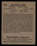 1939 Play Ball #136  Roy Bell  Back Thumbnail