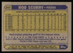 1987 Topps #665  Rod Scurry  Back Thumbnail
