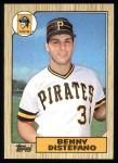 1987 Topps #651  Benny Distefano  Front Thumbnail