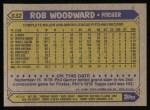 1987 Topps #632  Rob Woodward  Back Thumbnail