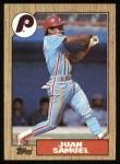 1987 Topps #255  Juan Samuel  Front Thumbnail