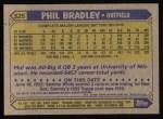 1987 Topps #525  Phil Bradley  Back Thumbnail