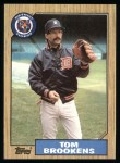 1987 Topps #713  Tom Brookens  Front Thumbnail