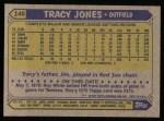 1987 Topps #146  Tracy Jones  Back Thumbnail