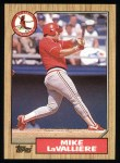 1987 Topps #162  Mike LaValliere  Front Thumbnail