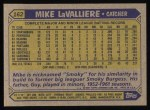 1987 Topps #162  Mike LaValliere  Back Thumbnail
