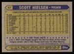 1987 Topps #57  Scott Nielsen  Back Thumbnail